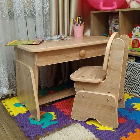 Детские столик и стульчик с регулировкой высоты. Николаев.