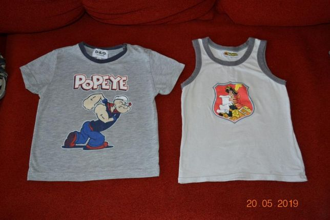 Комплект футболка и майка на лето для мальчика 1-2 года