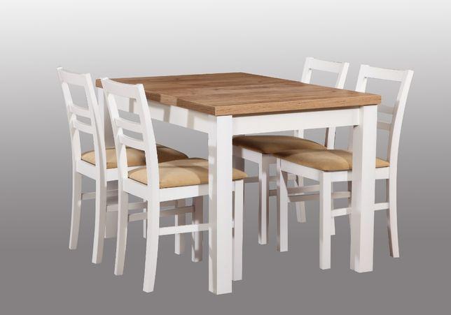 Zestaw stół i krzesła do salonu,kuchni 120x 80cm