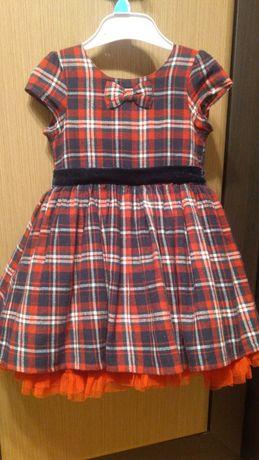 Sukienka krata kratka czerwona tiul St. Bernard sesja święta 86 92