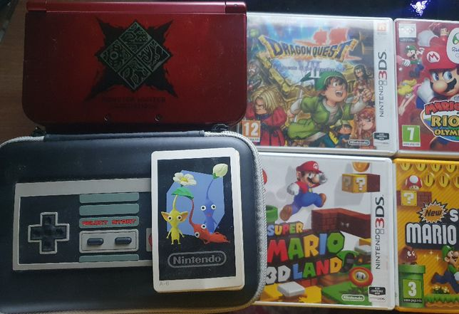 New Nintendo 3ds XD wersja MONSTER HUNTER EDITION+7 gier
