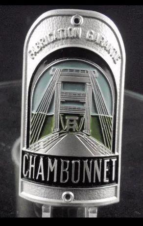 Emblemat rowerowy CHAMBONNET (vintage, logo, blaszka, tabliczka)