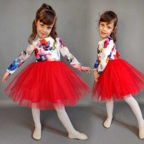 Платье пышное бальное для девочки 80,86,92,98,104,110,116,122,128