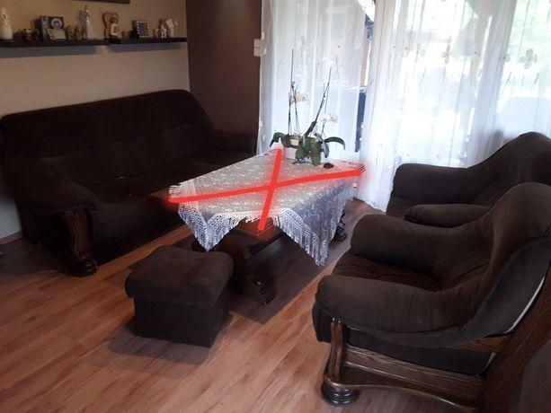 Stelaże dębowe /sofa / 2 fotele +2 pufy