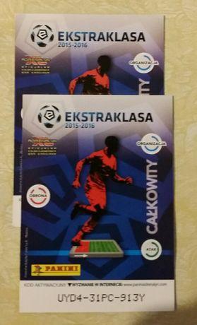 Karty Ekstraklasa 2015 -2016 cena 0.50