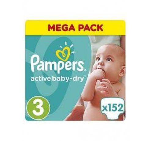 подгузники Pampers Active Baby MIDI (5-9 КГ) MEGA 152 ШТ.