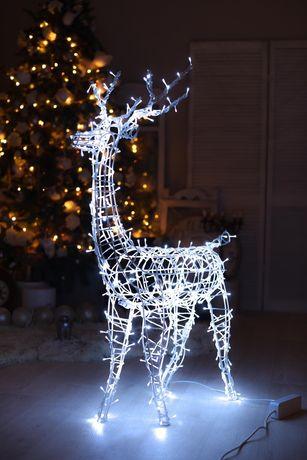 Светодиодный олень. Новогодний декор. Украшение для дома и улицы