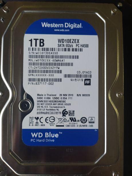 WD Blue 1 TB 7200rpm - 2400р / Идеальное состояние, чек