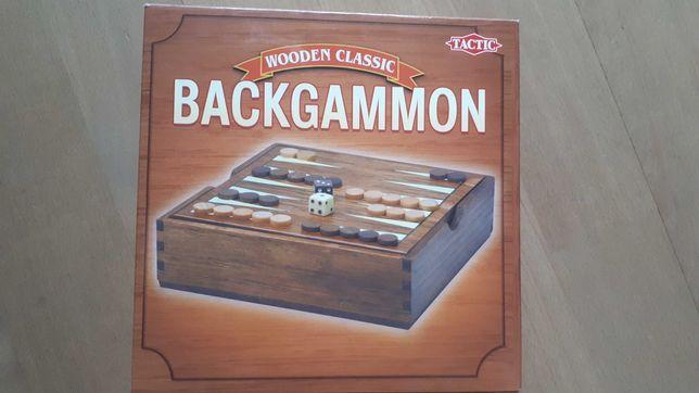 Wooden Classic - BACKGAMMON, TACTIC gra drewniana