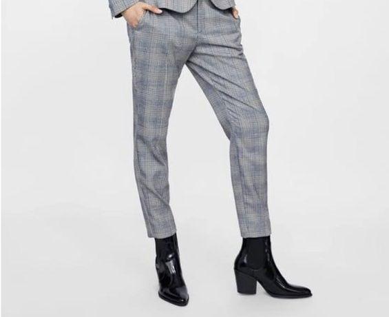Spodnie cygaretki zara kratka szare rozmiar 42 XL