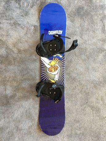 Deska snowboardowa Atomic - 119 cm z wiązaniami Rage