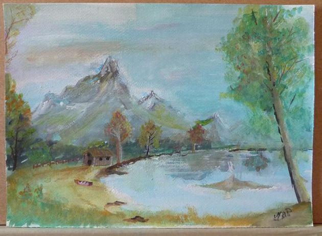 "Pintura a aguarela ""Montanha"""