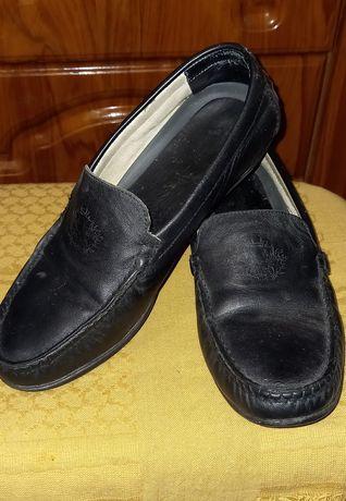 Туфли кожаные на мальчика подростка. Мокасины, кожа. Р-р 37. Сменка