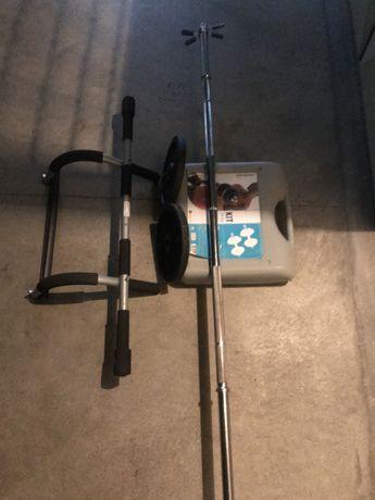 Maquina total fit pro + kit pesos 20kg + kit pesos 10kg + saco box