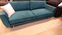 Sofa rozkładana HUGO spanie +pojemnik Velur turkusowy Meble Warszawa