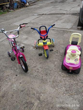 Продам детский транспорт ( велосипед, толокар )