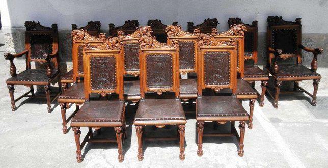 Conjunto 12 cadeiras 2 Cadeirões