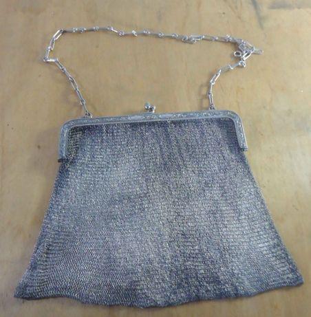 grande bolsa em prata 800 com 355 gramas