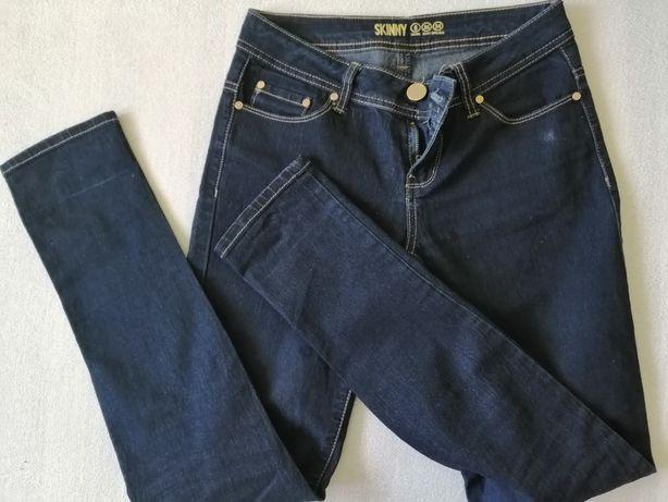 Spodnie skinny 34 stan bardzo dobry. Piękny ciemny jeans.