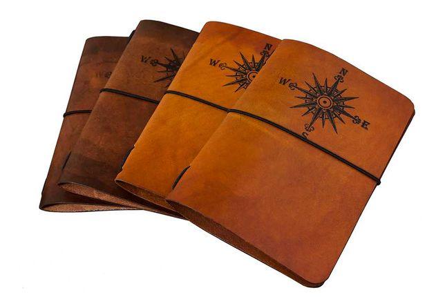Skórzana Okładka A6 + notes handmade Travelers Journal