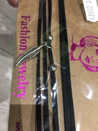 Choker naszyjnik biżuteria piórko piórka indiańskie