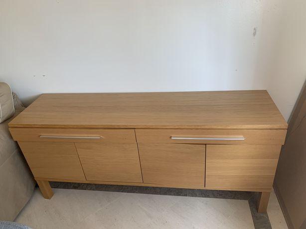 Aparador IKEA, com duas gavetas e duas prateleiras
