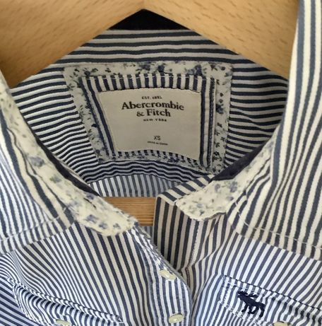 Camisa de riscas Abercrombie & Fitch XS