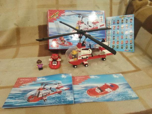 Лего конструктор пожарный вертолет