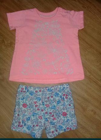 Шорты next,футболка,набор шорты и футболка,nutmeg,шорты для девочки