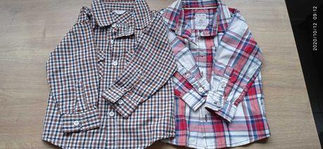 Koszule na długi rękaw dla chłopca rozmiar 80
