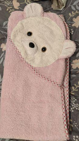 Дитячий рушничок рушник з кишенькою для голівки