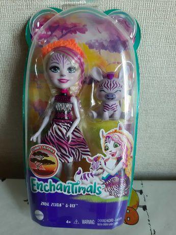 Кукла НОВАЯ Enchantimals (Энчайтимолс) Зебра