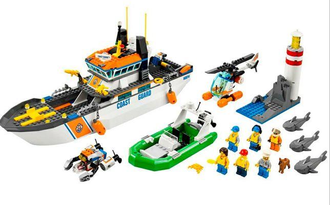 LEGO, оригинал. Огромный корабль, остров, береговой охраны, 60014