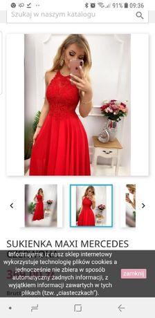 Czerwona sukienka Maxi Mercedes pretty woman