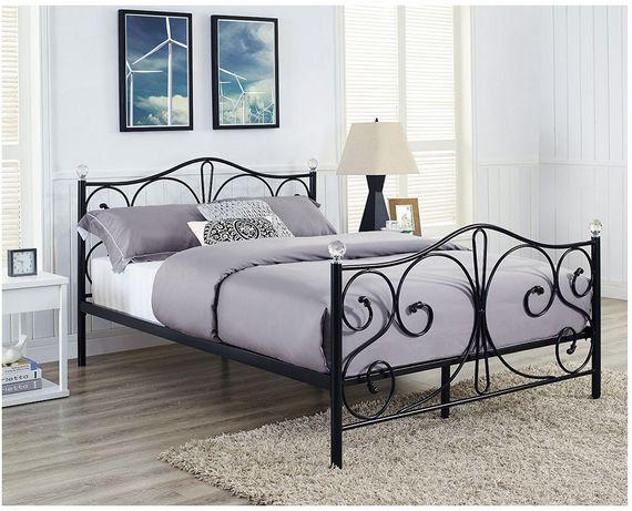 Łóżko sypialniane metalowe 160x200 wysyłka max 24h