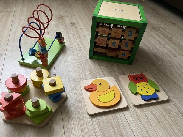 Zabawki drewniane przeplatanka mula układanka