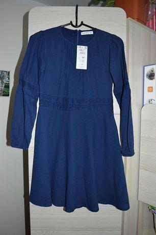 Reserved sukienki granatowe dla dziewczynki 146 nowe