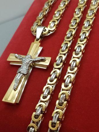 Łańcuszek bizantyjski królewski stal szlachetna 316L wysyłka gratis