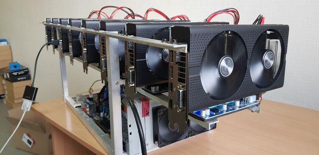 250 mh/s Новая майнинг ферма на видеокартах Sapphire Rx580 8gb Pulse