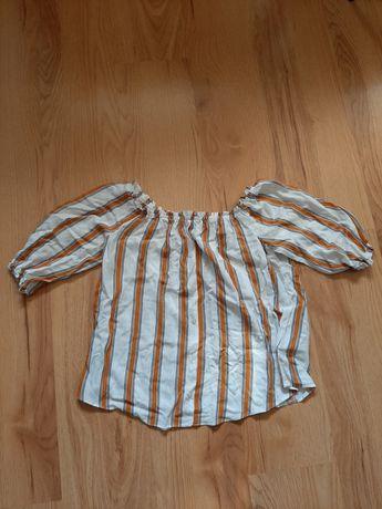 Koszulka hiszpanka w paski z guziczkami