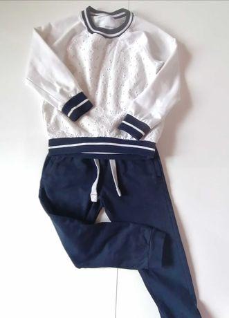 Dresy, komplet, Bluza Reserved i spodnie 5-10-15, rozmiar 110, gratisy