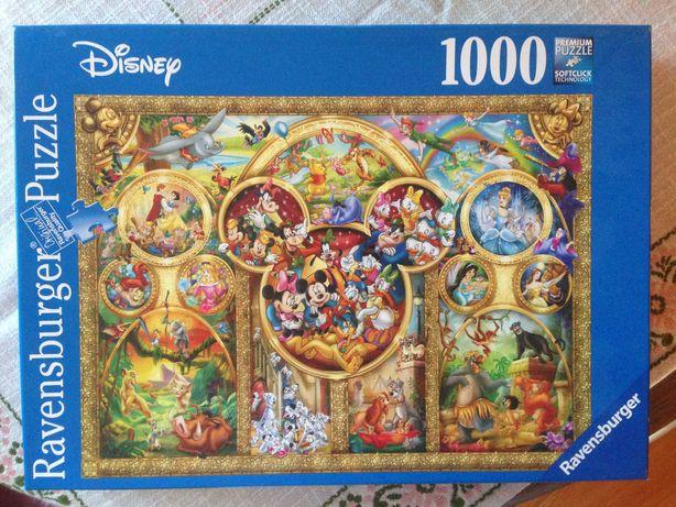 Puzzle 1000 Ravensburger Disney - kolaż, najlepsze bajki