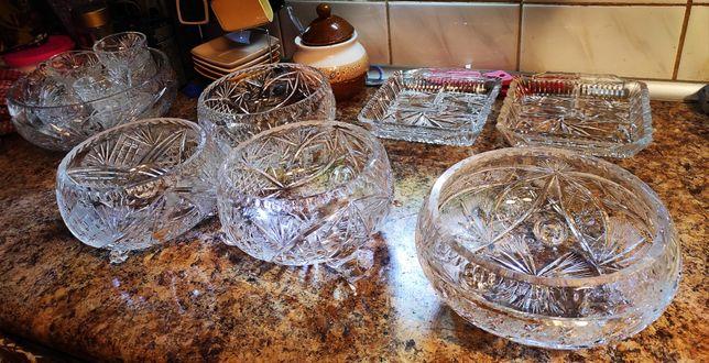 Kryształy misy, filiżanki, patery