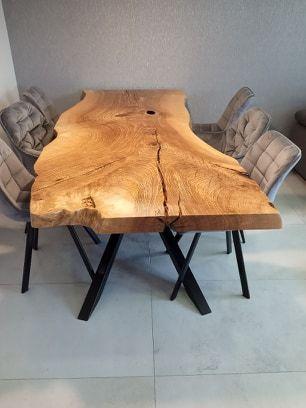 Stół monolit, stół drewniany l 8 cm gruby, loft, lite drewno,