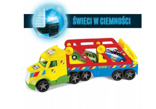 Nowy Duży Zestaw WADER Tir + Laweta Magic Truck + 2 Auta Coupe