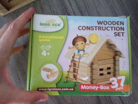 Деревянный конструктор, домик.
