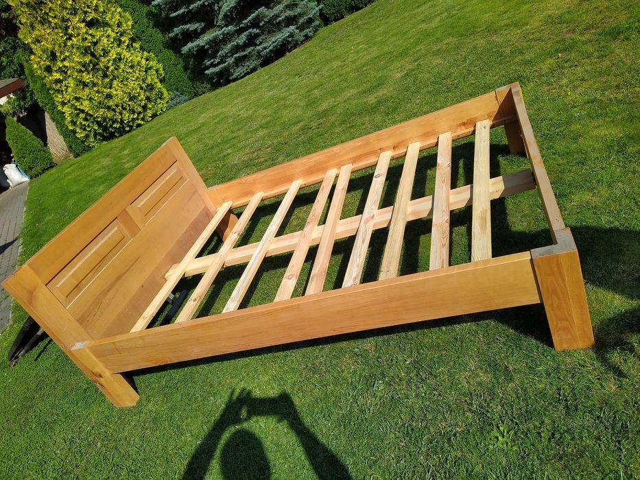 Łóżko lite drewniane ręcznie robione Łódź - image 1