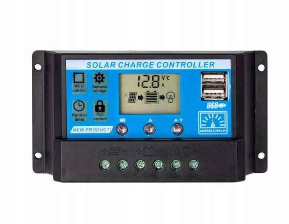 Regulator ładowania solarny 12V 24V panel LCD 20A (SOL31)