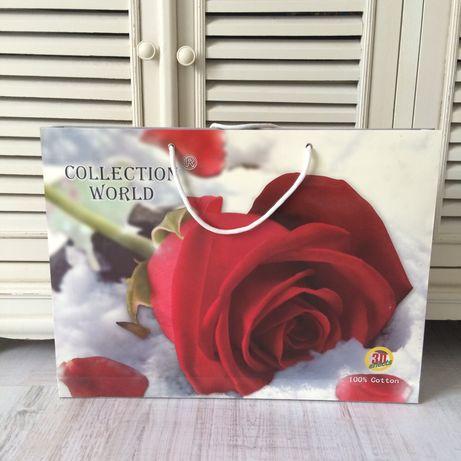 Komplet pościeli satyna bawełniana pościel 160/200 cm róże efekt 3D