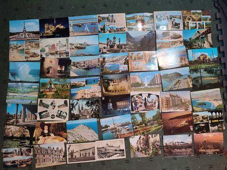 Lote 186 postais circulados